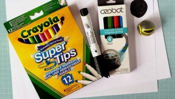 Ozobot-Farbcodes mit Stiften malen