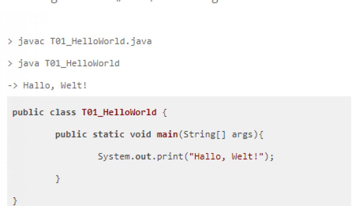 Java-Aufgaben für Anfänger – Teil 1